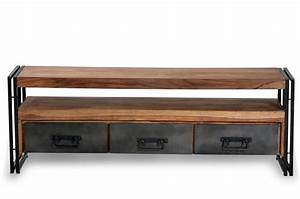 Tv Bank 160 Cm : tv lowboard santiago 160 cm industrie finish dunord design ~ Bigdaddyawards.com Haus und Dekorationen