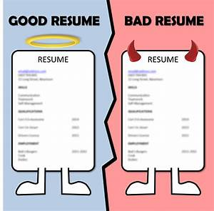 Resume Examples Good And Bad Resume Examples
