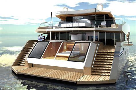 Large Catamaran Cost by Luxury Superyacht Shaped Like Catamaran Boasts Gymnasium