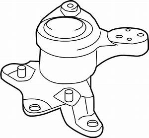 Ford Fusion Engine Mount  Trans  Front  Liter