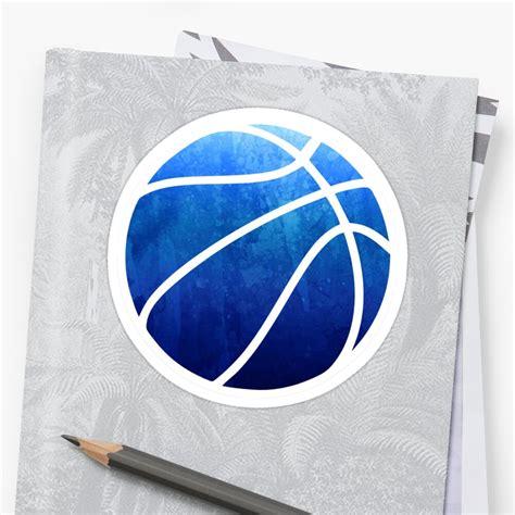 basketball dark blue sticker  hcohen redbubble