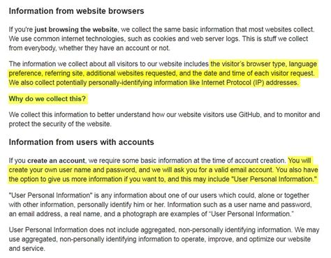 Information From Website Browsers