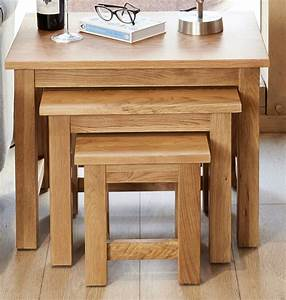 Baumhaus Mobel Oak Nest Of Tables Up To 40 Sales Now On
