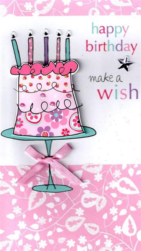 Make A Wish Happy Birthday Greeting Card  Cards  Love Kates