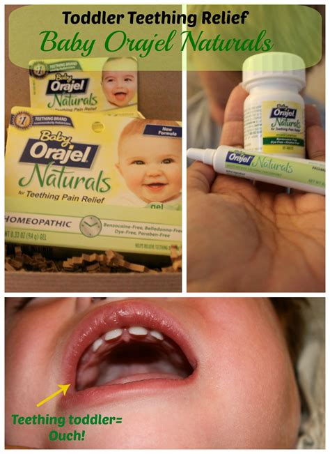 Toddler Teething Relief With Baby Orajel Naturals Teething