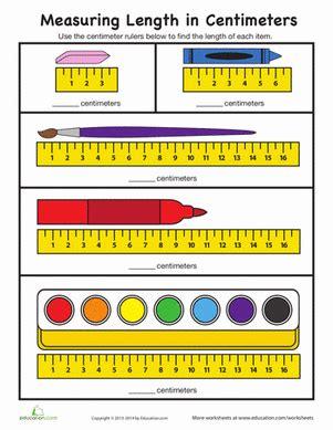 measurement worksheets using centimeters measure in centimeters worksheet education com