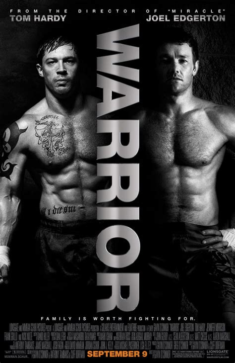 warrior   poster  tom hardy joel edgerton