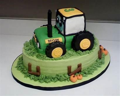Tractor Birthday Cakes Cake Backhoe Deere John