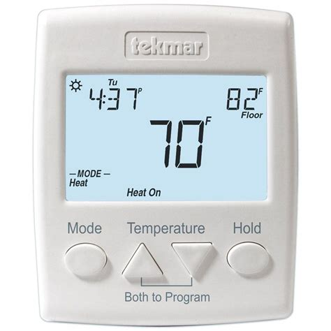 Heat Cool Thermostat Wiring by Tekmar 7 Day 2 Stage 2 Heat Or Heat Cool Programmable