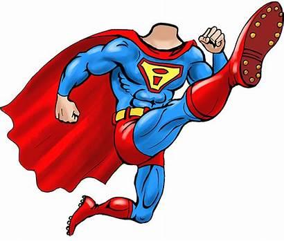 Superhero Clipart Superman Caricature Cartoon Transparent Templates