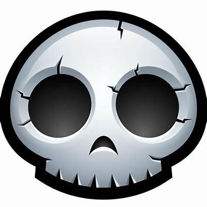 Halloween Skull Icon Avatar Skeleton Clipart Bone