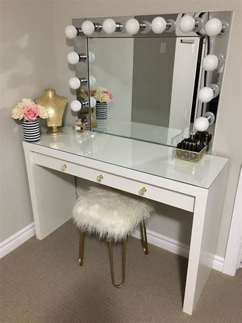 Vanity Desk Mirror With Lights vanity mirror with desk lights 8 steps with pictures