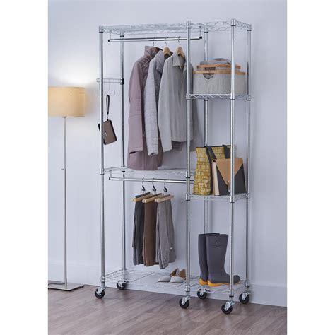 kitchen cabinet racks ecostorage 14 in d x 41 in w x 77 5 in h chrome 2702
