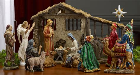 collectibles nativity sets gifts 9 quot holy family nativity set 3 piece set