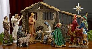 collectibles nativity sets gifts 9quot holy family With outdoor light up nativity sets for sale