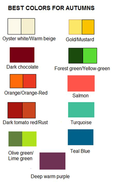 Palette Green All Seasons by Autumn Season Color Palette Are From Mars
