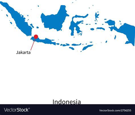 detailed map  indonesia  capital city jakarta