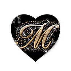 fancy letter m stickers