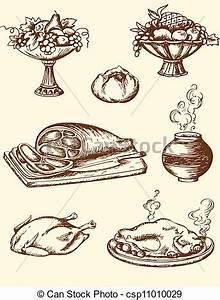 Vintage Food Clipart - ClipartXtras