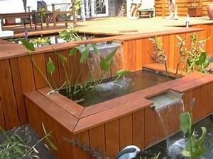 Bassin De Terrasse : larmiers dans bassin en bois bassin ext rieur terrasse ~ Premium-room.com Idées de Décoration