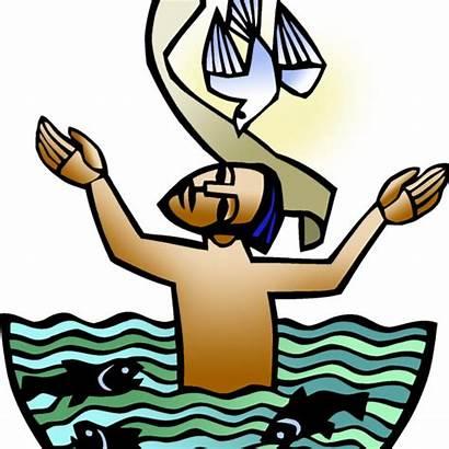 Baptism Lord Clip Sunday Church Luke Scripture