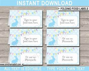 Easter food labels place cards easter theme party for Food label template for party