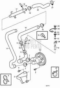 Volvo Penta Exploded View    Schematic Seawater Pump And
