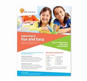 Preschool education flyer template for Education flyer templates