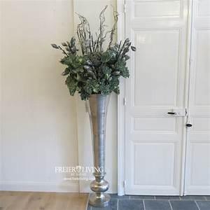 Deko Für Bodenvase : bodenvase ca 135 cm gro e aluminum vase gef s impressionen landhausstil deko kaufen bei helga ~ Indierocktalk.com Haus und Dekorationen