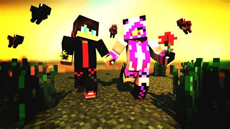 cute couple wallpaper minecraft keren