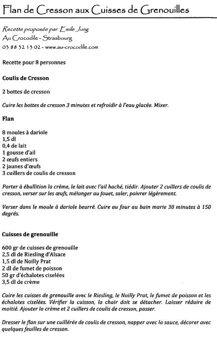 recette restaurant grand chef 233 toil 233 grenouilles