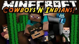 Minecraft Mini Game COWBOYS AND INDIANS YouTube