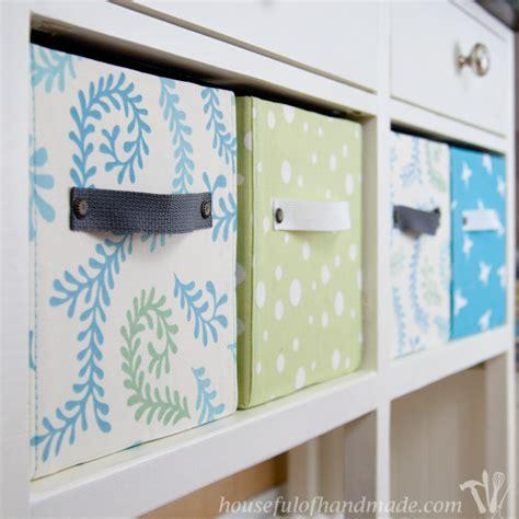 decorating fabric storage bins easy diy fabric storage boxes a houseful of handmade