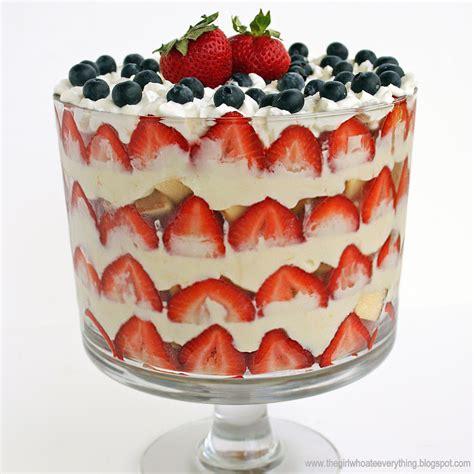 trifle ideas 4th of july fresh berry trifles recipe dishmaps