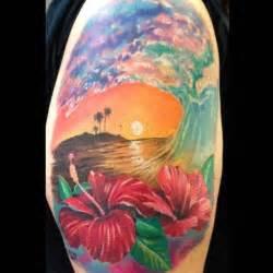 hawaiian beach scene   tattoos   Pinterest   Beach tattoos ...