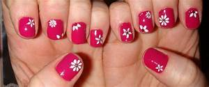 Hot pink nail designs pccala