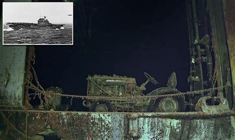 wreck   wwii aircraft carrier uss hornet
