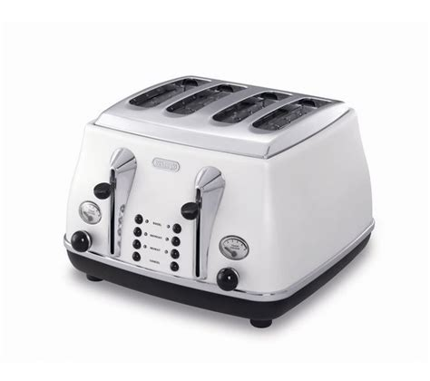 Delonghi 4 Slice Toaster by Buy Delonghi Icona Ctom4003w 4 Slice Toaster White