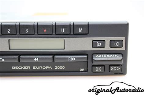 becker europa 2000 original autoradio de becker europa 2000 be1100 original