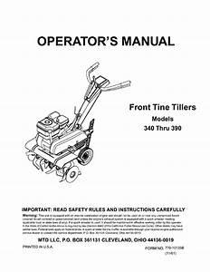 Mtd Garden Tiller Manuals