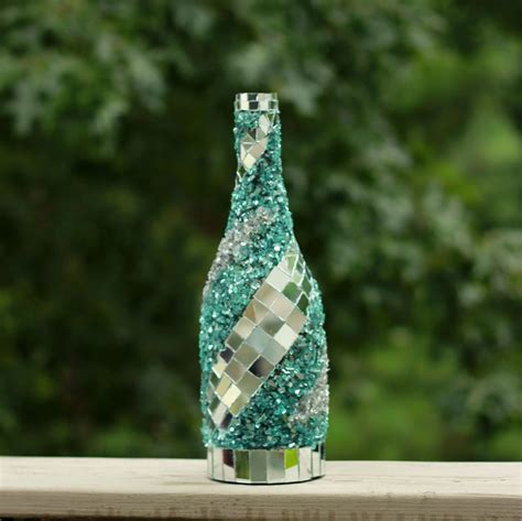 decor glass mosaic mirror wine bottle wine bottle decor frozen glass