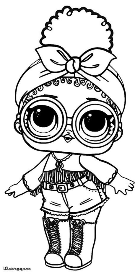 foxy series  lol surprise doll coloring page fargelegging
