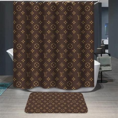 louis vuitton logo pattern custom shower curtain custom