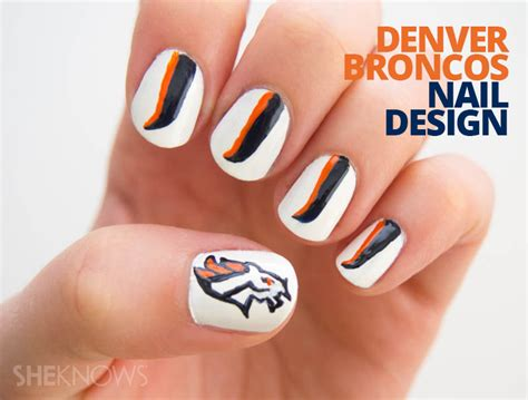 denver broncos nail designs 93 cool nail design tutorials to keep you busy polished