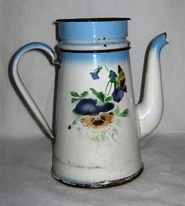 Cafetiere A L Ancienne : cafeti re en t le maill e ancienne d cor fleurs pens es ~ Premium-room.com Idées de Décoration