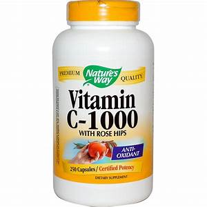 Nature's Way, Vitamin C-1000, With Rose Hips, 250 Capsules ...
