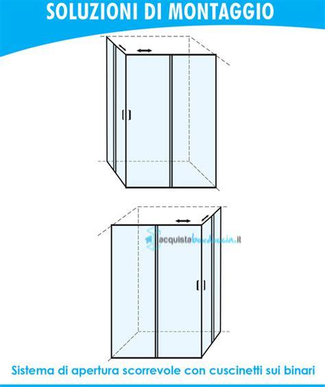 Box Doccia Usati by Vendita Box Doccia Angolare Porta Scorrevole 60x80 Cm