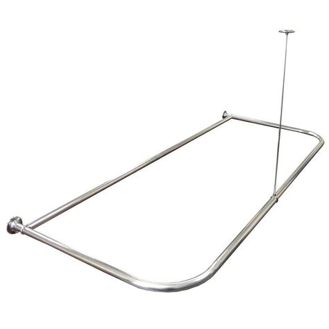 aluminum shower curtain rod 668303bh the home depot
