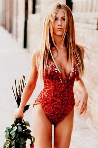 jennifer aniston red bathing suit dont compare