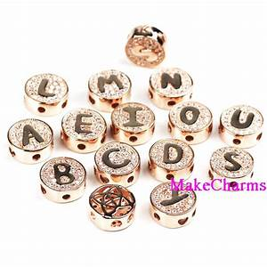 rose gold plated metal copper beads a z 12mm alphabet letter With rose gold metal letters